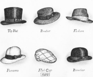 hat, illustration, and photography image