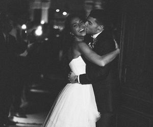 blackandwhite, nature, and bride image