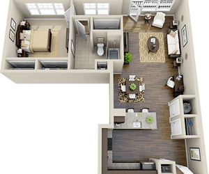 3d, interior, and apartment image