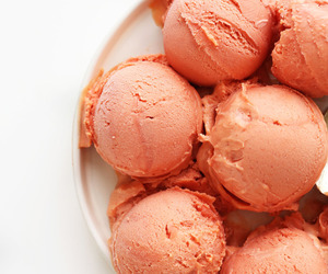 ice cream, food, and peach image