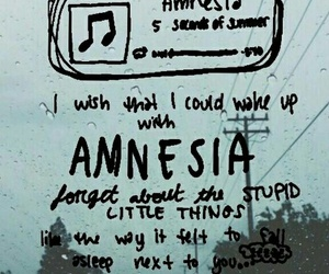 amnesia, 5sos, and Lyrics image