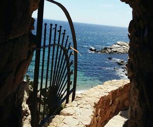 beach, blue, and door image