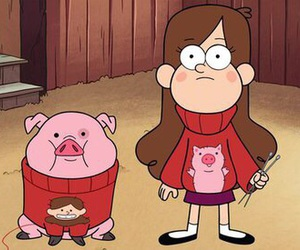 gravity falls, mabel, and cartoon image