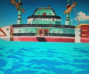 one piece, sea, and restaurant image