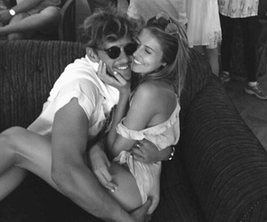 couple, cuddle, and vacay image