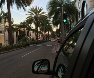 car, tumblr, and palm trees image