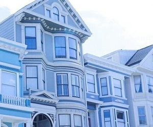 blue, aesthetic, and house image