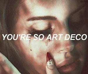art deco and lana del rey image