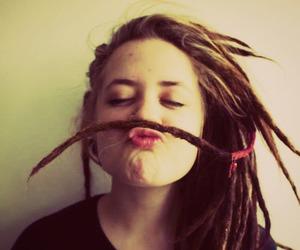 girl, dreads, and dreadlocks image