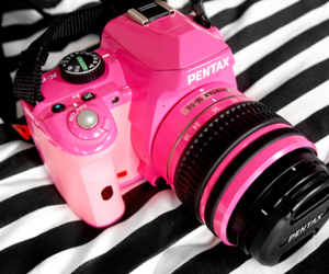pink, camera, and pentax image