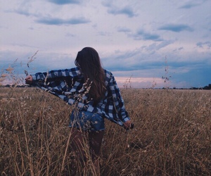 girl, sky, and hipster image