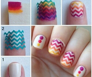 nails, tutorial, and diy image
