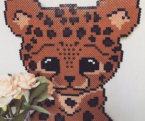 pixel, beads, and cuteness image