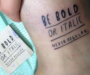 skin, tattoo, and typography image