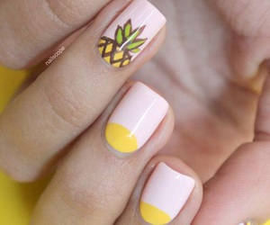 nails, pineapple, and summer image