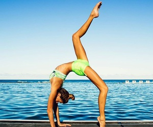 fitness, flexibility, and ocean image