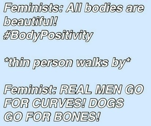 feminism, feminist, and real women have curves image