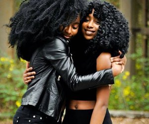 black woman, leather jacket, and african american woman image