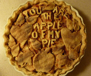 apple, pie, and food image