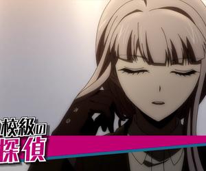 trailer, kirigiri, and danganronpa the animation image