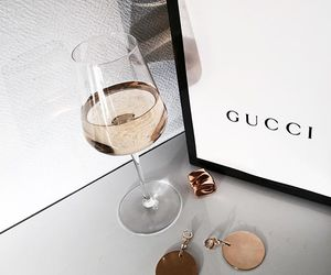 gucci, drink, and luxury image