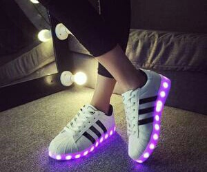 adidas, light, and shoes image