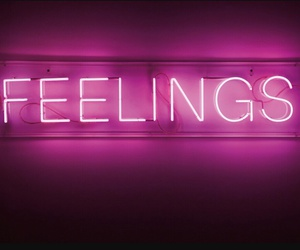 feelings, pink, and neon image