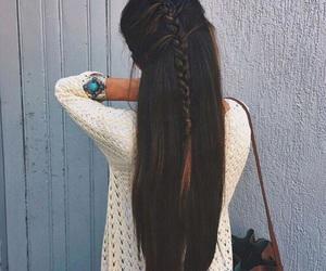 hair, braid, and long hair image