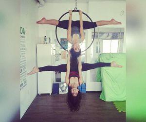aerial hoop, girls, and acro image