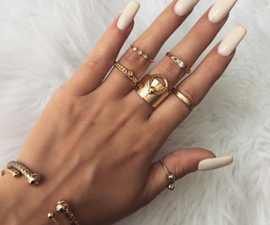 chic, glam, and nails image