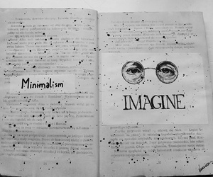 art journal, black and white, and imagination image