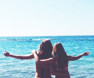 beach, bikini, and blue image