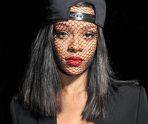 rihanna, black, and Queen image