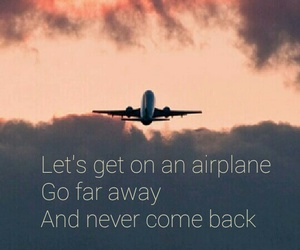 airplane, far away, and 💔 image