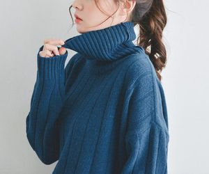 blue, sweater, and aesthetic image