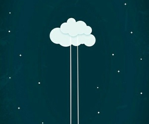 wallpaper, clouds, and stars image