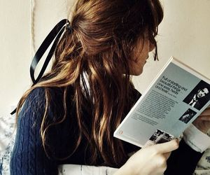 book, hair, and pretty image