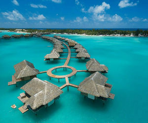 bora bora, sea, and beach image