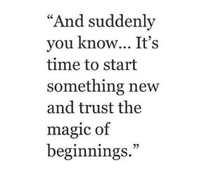quotes, beginning, and magic image