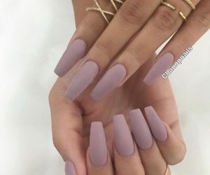 matte, nails, and purple image
