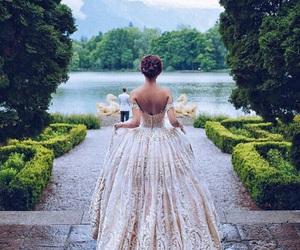dress, wedding, and princess image