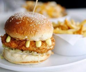 delicious, hamburger, and fat food image