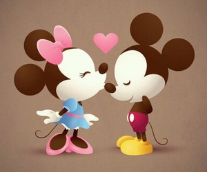 kiss, mickey mouse, and love image