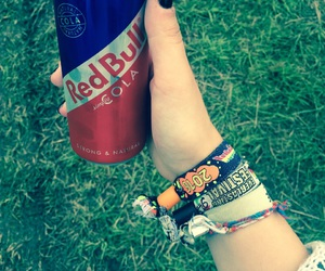 happy, summer, and red bull image