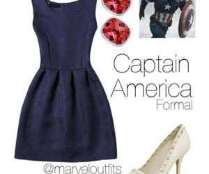 blue, captain america, and outfits image