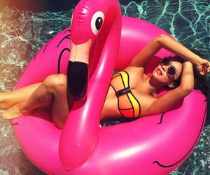 summer, shay mitchell, and pool image