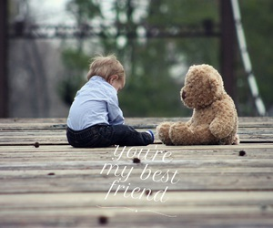 child, teddy, and cute image