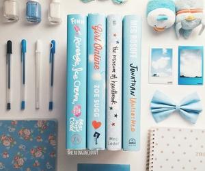 blue, books, and so pretty image