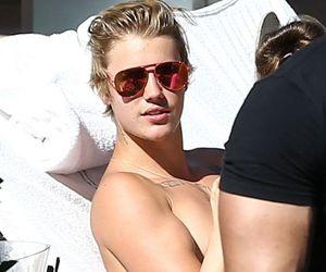 JB, shirtless, and justin bieber image