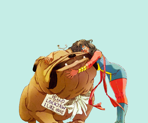 Marvel, lockjaw, and kamala khan image